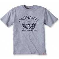 Hard To Wear Out Graphic Heather Grey T-Shirt Heren