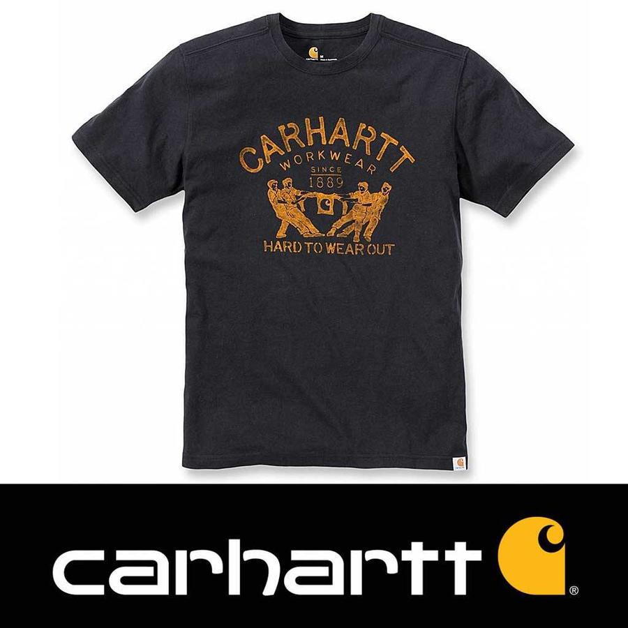 Hard To Wear Out Graphic Black T-Shirt Heren