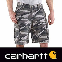 Rugged Cargo Grey Camo Shorts Heren