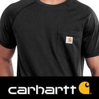 Force Cotton Black T-Shirt Heren