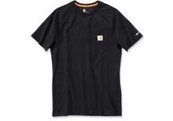 Carhartt Force Cotton Black T-Shirt Heren