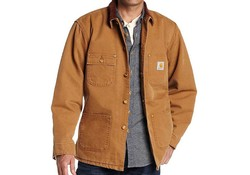 Carhartt Duck Chore Coat Carhartt Brown Werkjas Heren