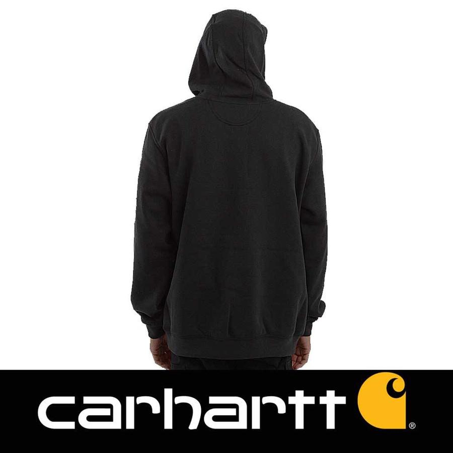 Midweight Sleeve Logo Hooded Sweatshirt Black Heren