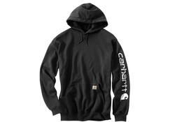 Carhartt Midweight Sleeve Logo Hooded Sweatshirt Black Heren