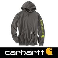 Midweight Sleeve Logo Hooded Sweatshirt Donkergrijs