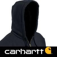 Midweight Zip Hooded Sweatshirt Black Heren