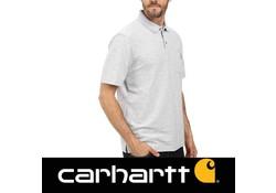 Carhartt Contractor's Work Pocket Heather Grey Polo Heren