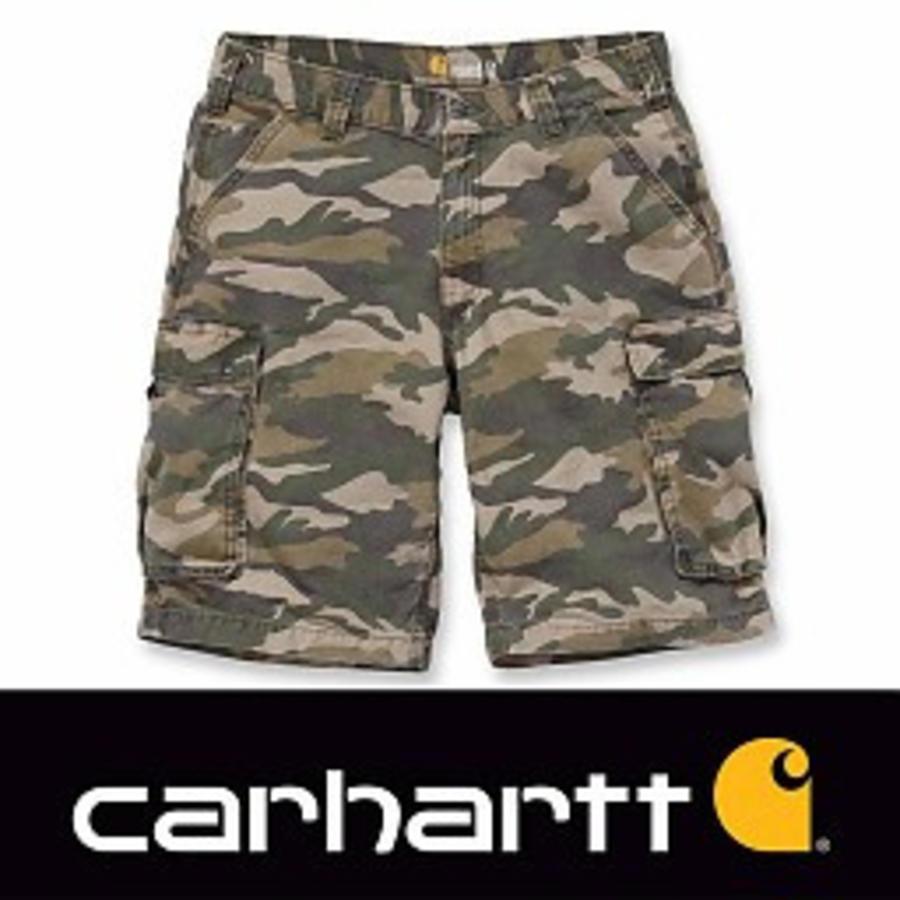 Rugged Cargo Khaki Camo Shorts Heren