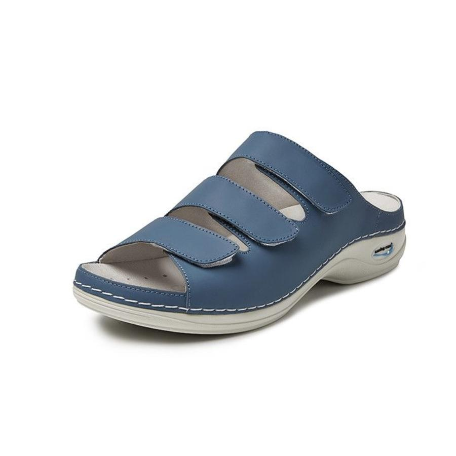 Licht Blauw Slippers Dames