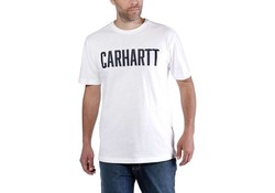 Carhartt Maddock Graphic Block Logo S-S Wit Shirt Heren