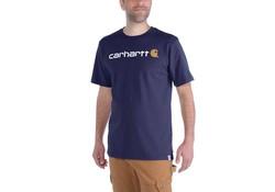 Carhartt EMEA Core Logo Navy S-S T-Shirt Heren