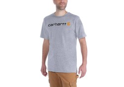 Carhartt EMEA Core Logo Heather Grey S-S T-Shirt Heren