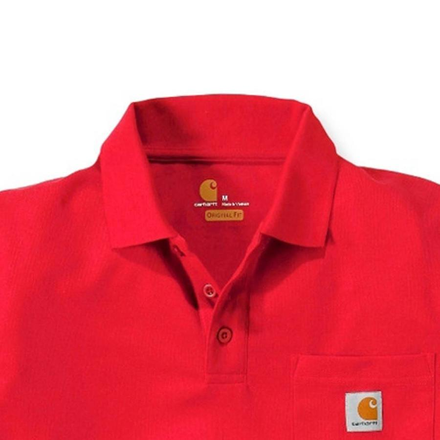 Contractor's Work Pocket Red Polo Heren