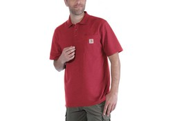 Carhartt Contractor's Work Pocket Red Polo Heren