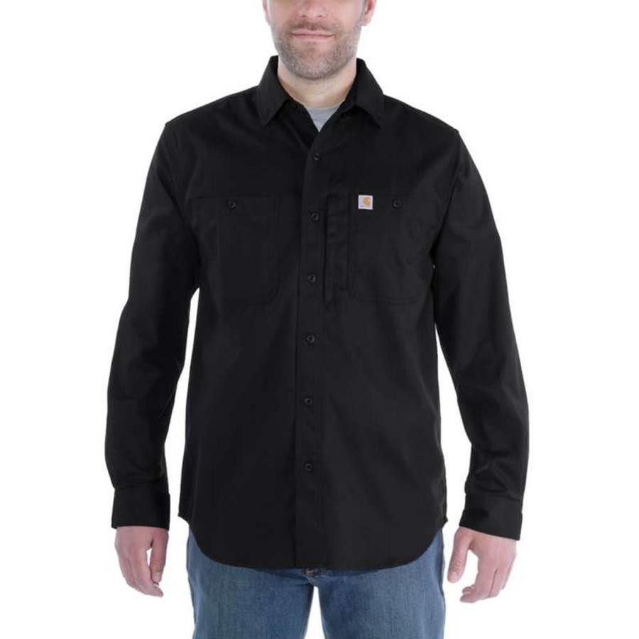 Rugged Professional LS Work Shirt Zwart Heren