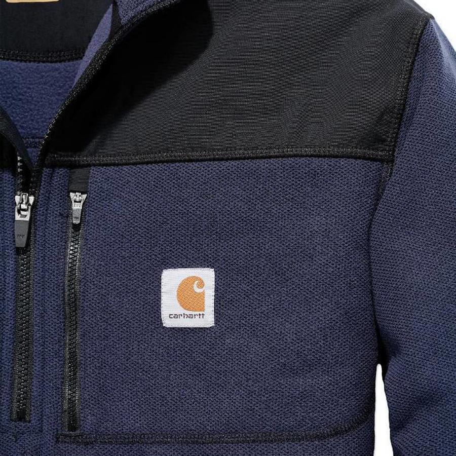 Fallon Half-Zip Sweatshirt Navy Vest Heren