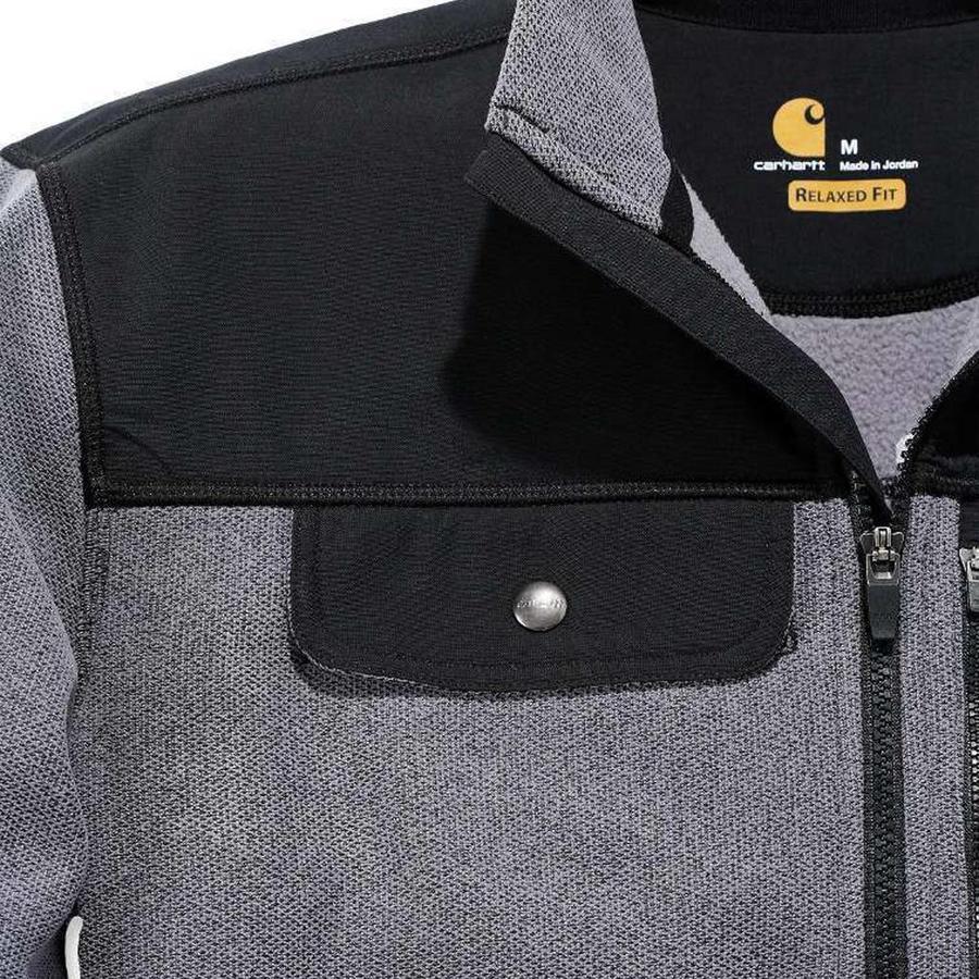 Fallon Half-Zip Sweatshirt Charcoal Vest Heren