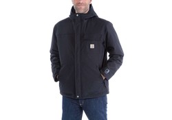 Carhartt Insulated Shoreline Jacket Zwart Regenjas Heren