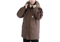 Carhartt Quick Duck Sawtooth Parka Dark Canyon Brown Winterjas Heren
