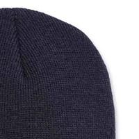 Acrylic Knit Hat Navy Muts Uniseks