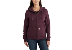 Carhartt Clarksburg Full Zip Hoodie Fudge Heather Dames