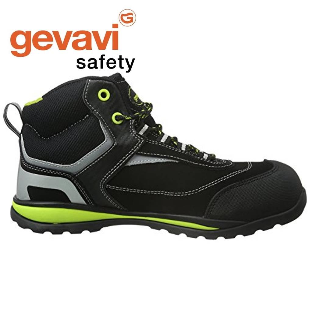 Werkschoenen Slagerij Dames.Gevavi Safety Gs38 Falcon Zwart Hoge Veiligheidsschoenen S1p Uniseks