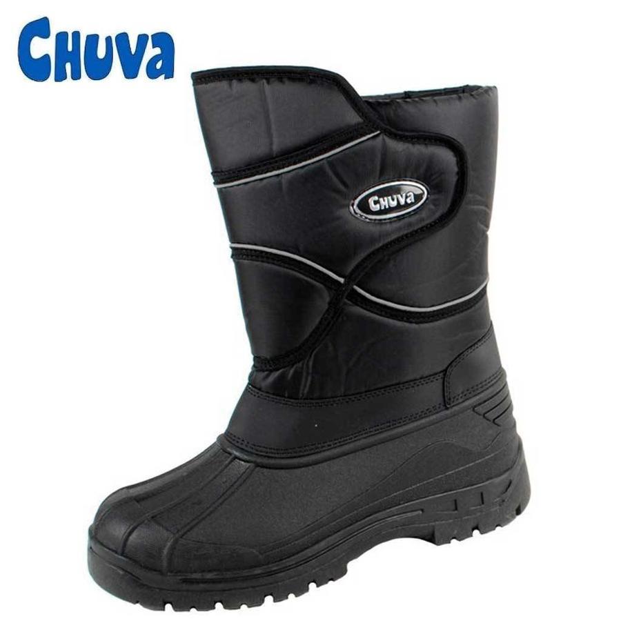 CW72 Zwart Gevoerde Laarzen Heren