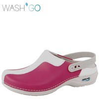 Clog Open Fuchsia Wit Klompen Dames