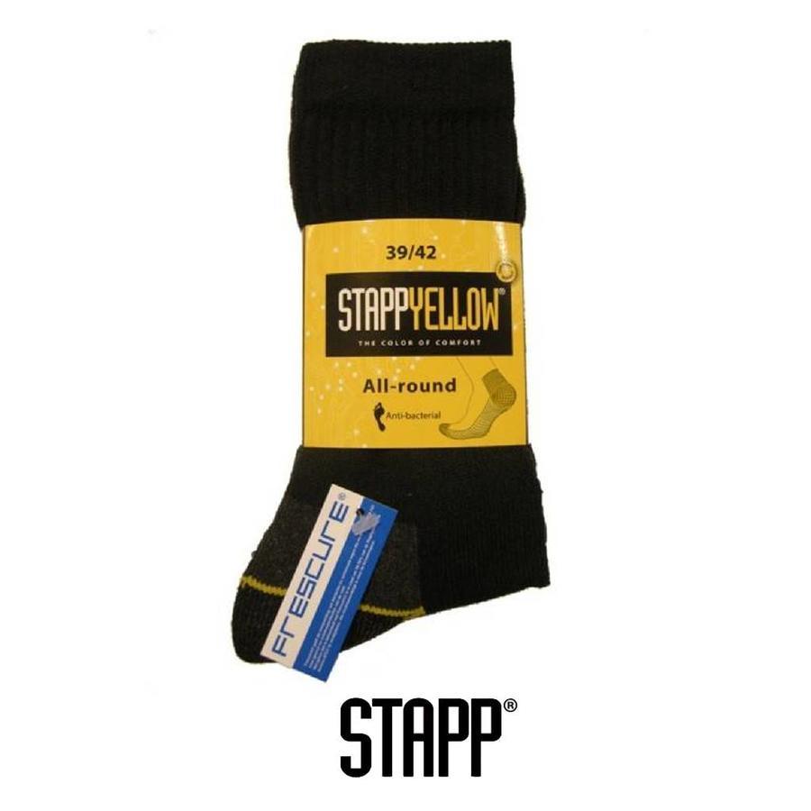 4410 Yellow Allround Zwart Sokken
