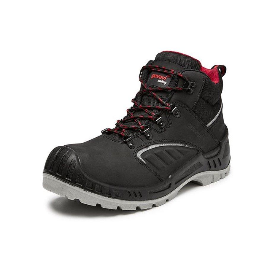 Werkschoenen Hoog.Gevavi Safety Gs44 S3 Hoog Zwart Werkschoenen Uniseks