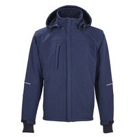 4Work  Granada Navy-Zwart Softshell Jas Heren