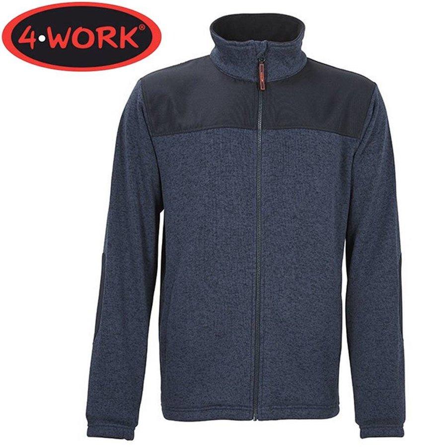 Ronda Gemeleerd Blauw Fleece Vest Heren