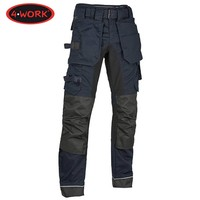 Madrid Premium Stretch Inserts Navy Zwart Werkbroek Heren