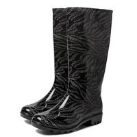 Elin PVC Zwart Regenlaarzen Dames