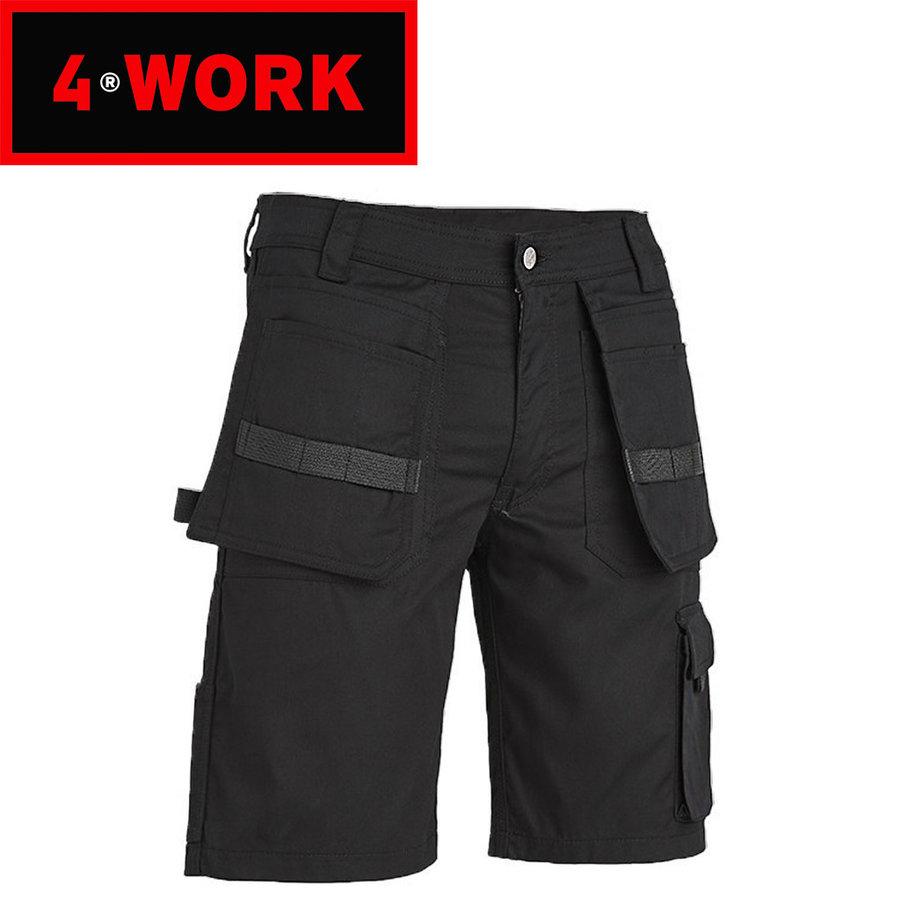 Murcia Multipocket Zwart Werkshort Heren