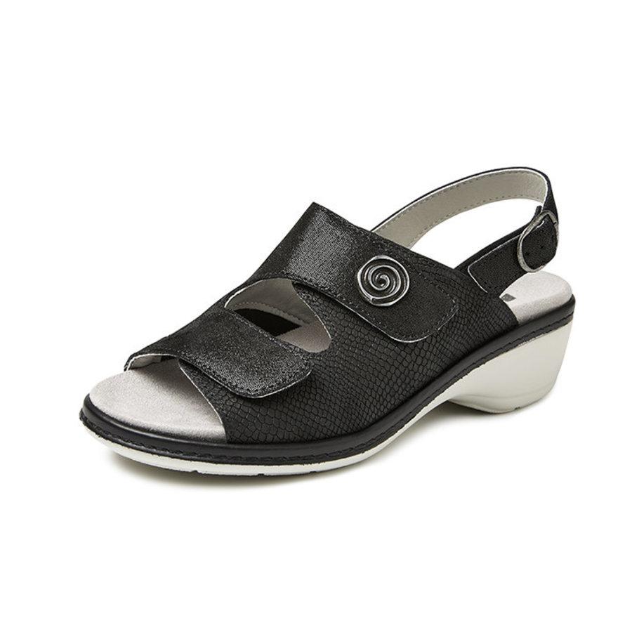 4977 Zwart Medische Sandalen Dames