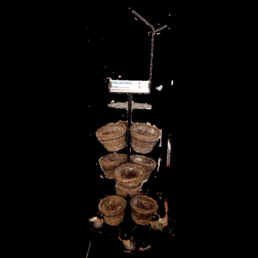 Display houten tulp nr. 1 zonder tulpen