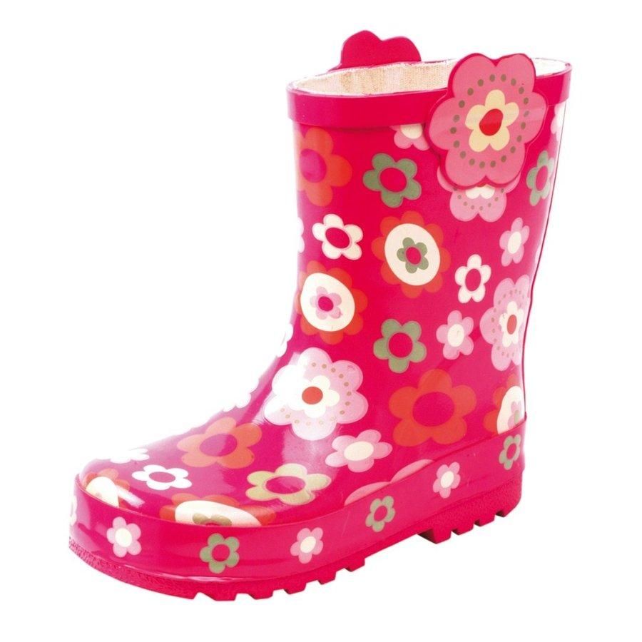Girls PVC Roze Bloem Regenlaarzen Meisjes