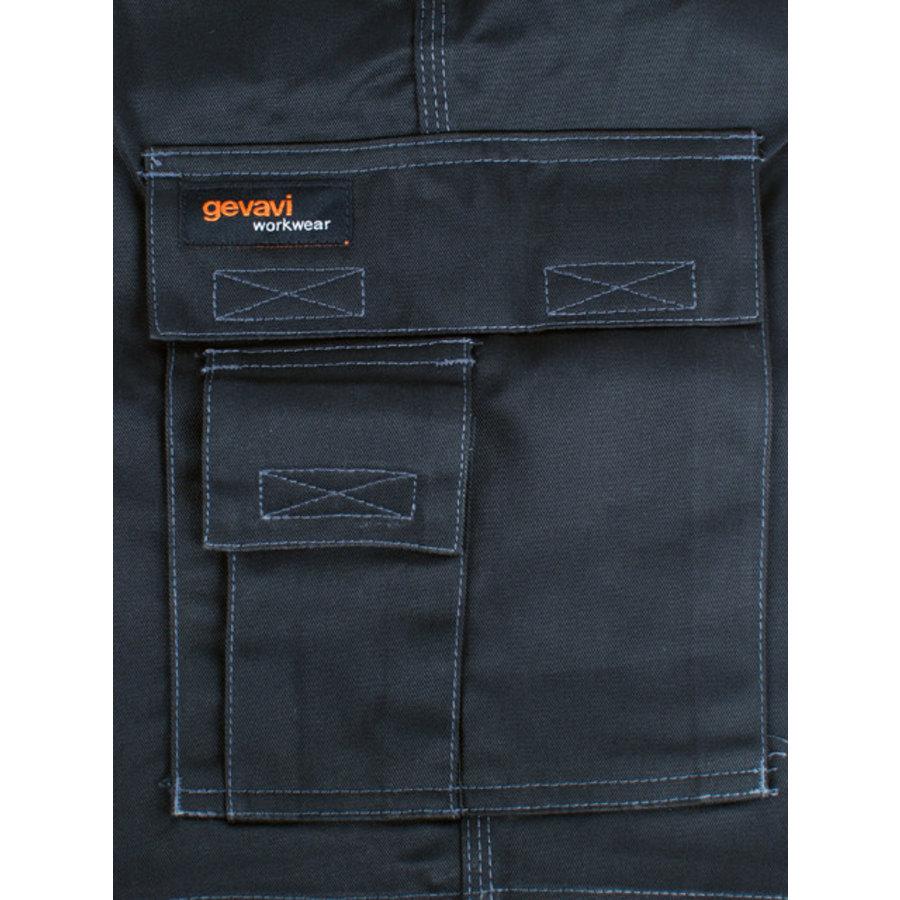 GW03 Short Zwart Korte Werkbroek Heren