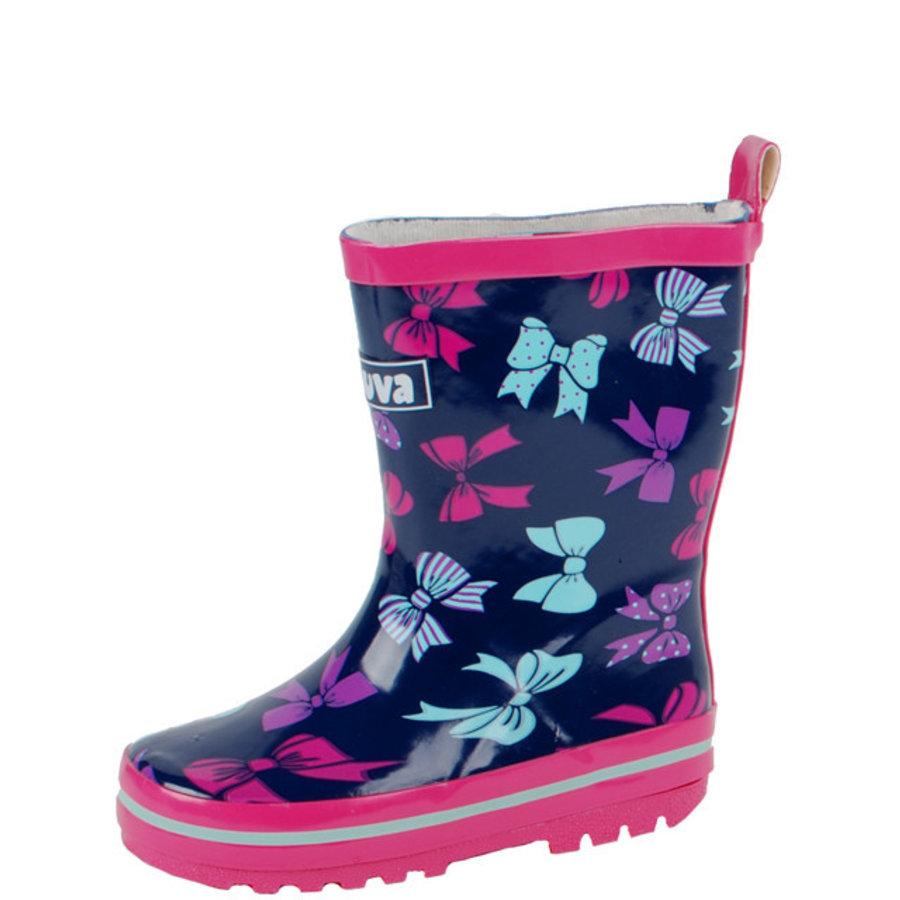 Sita meisjeslaars rubber blauw/roze