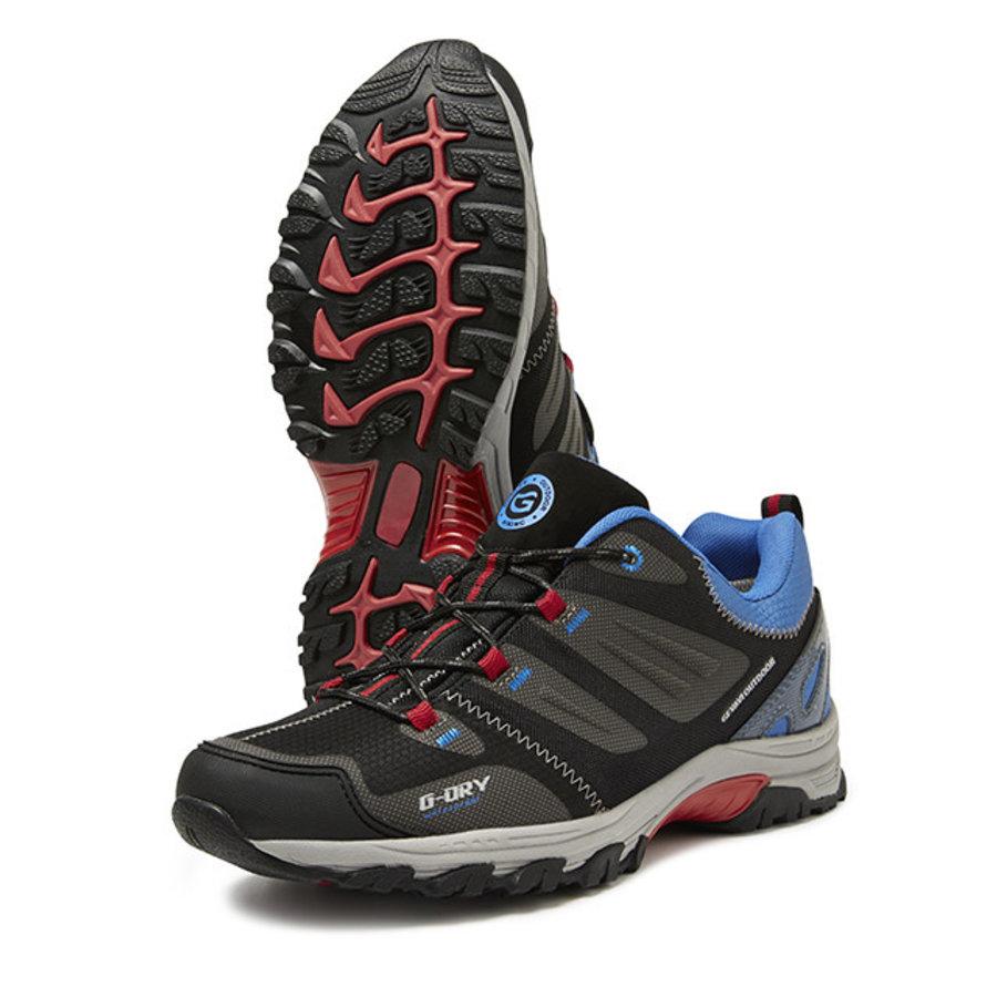 GH02 Wald Grijs/Blauw Laag Hiking Schoenen Heren
