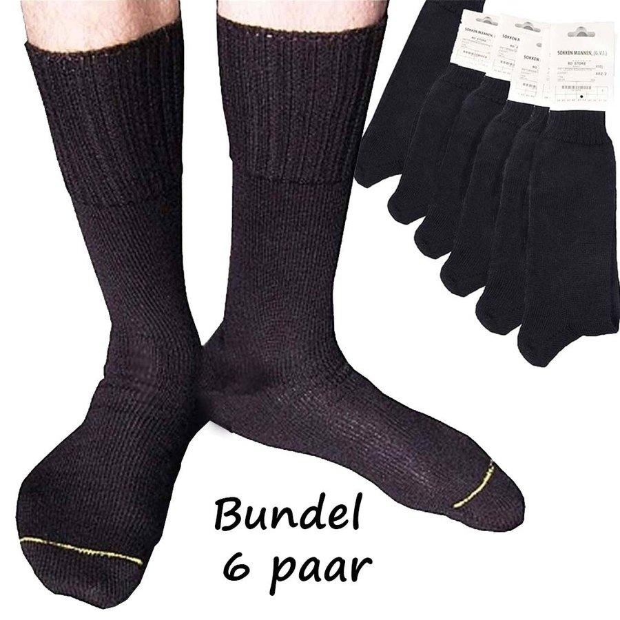 Aanbieding  6 Paar Nederlandse Legersokken Zwart Uniseks