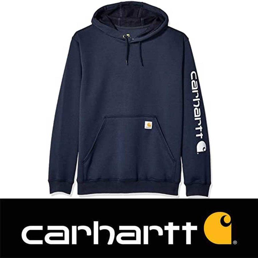 Midweight Sleeve Logo Hooded Sweatshirt New Navy Heren