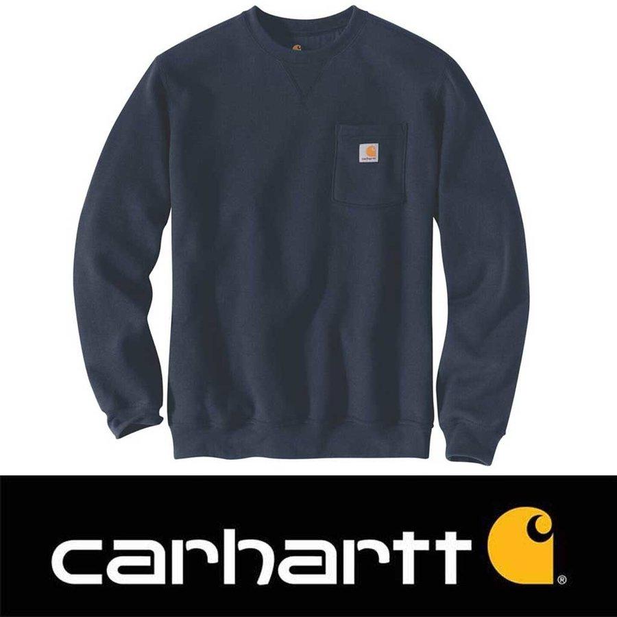 Crewneck Pocket New Navy Sweatshirt Heren