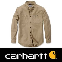 Rugged Flex Rigby LS Dark Khaki Werkshirt Heren