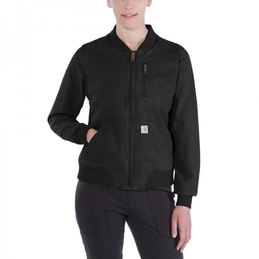 Crawford Bomber Jacket Zwart Dames