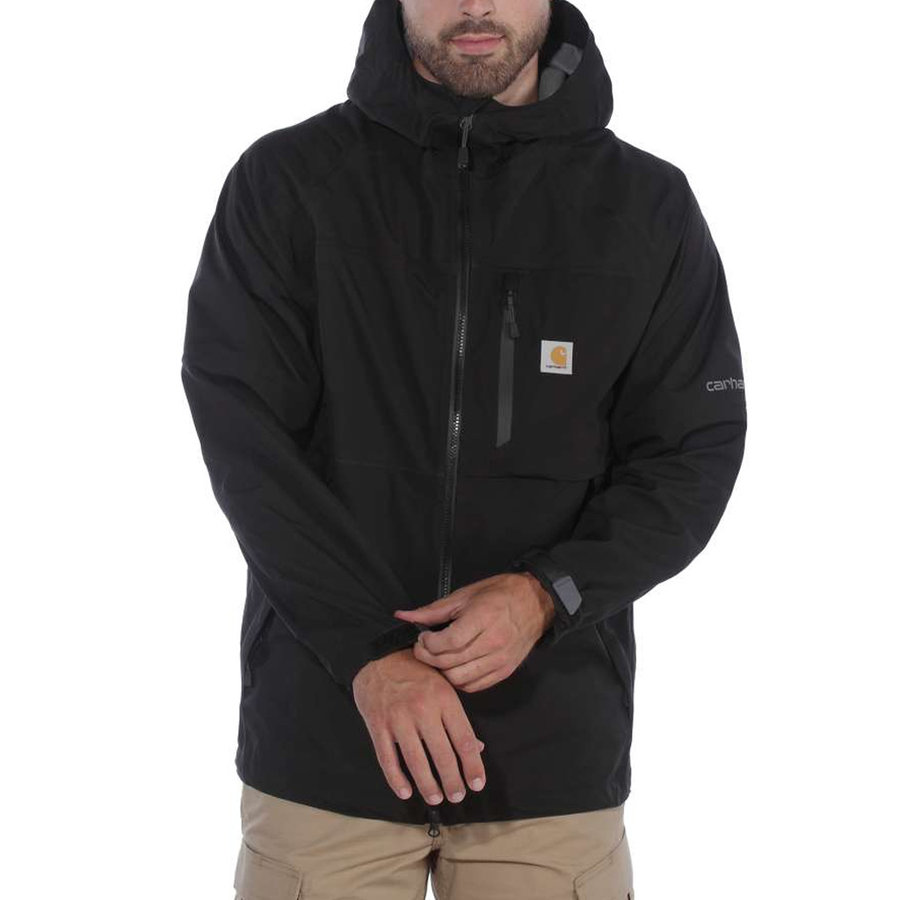 Force Hooded Black Regenjack Heren
