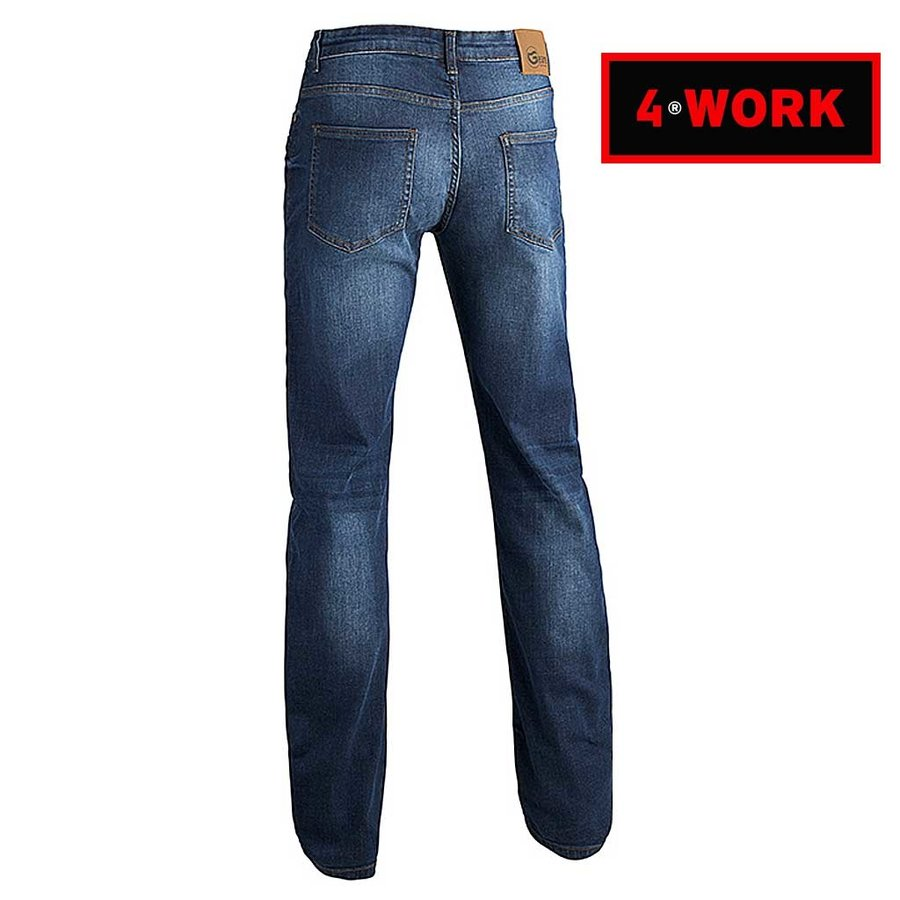 GW04 Jeans Blauw Werkbroek Heren