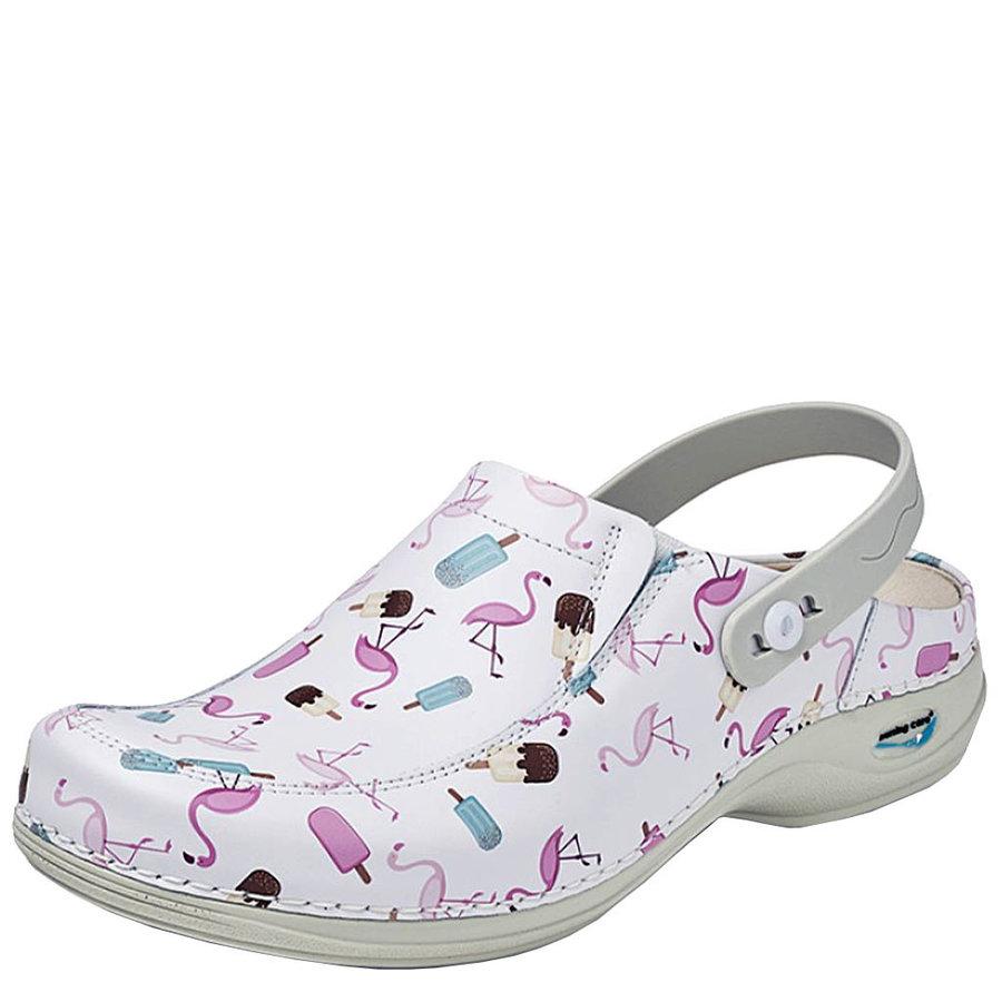 Clog  - Flamingo Ice  Medische Klompen Dames