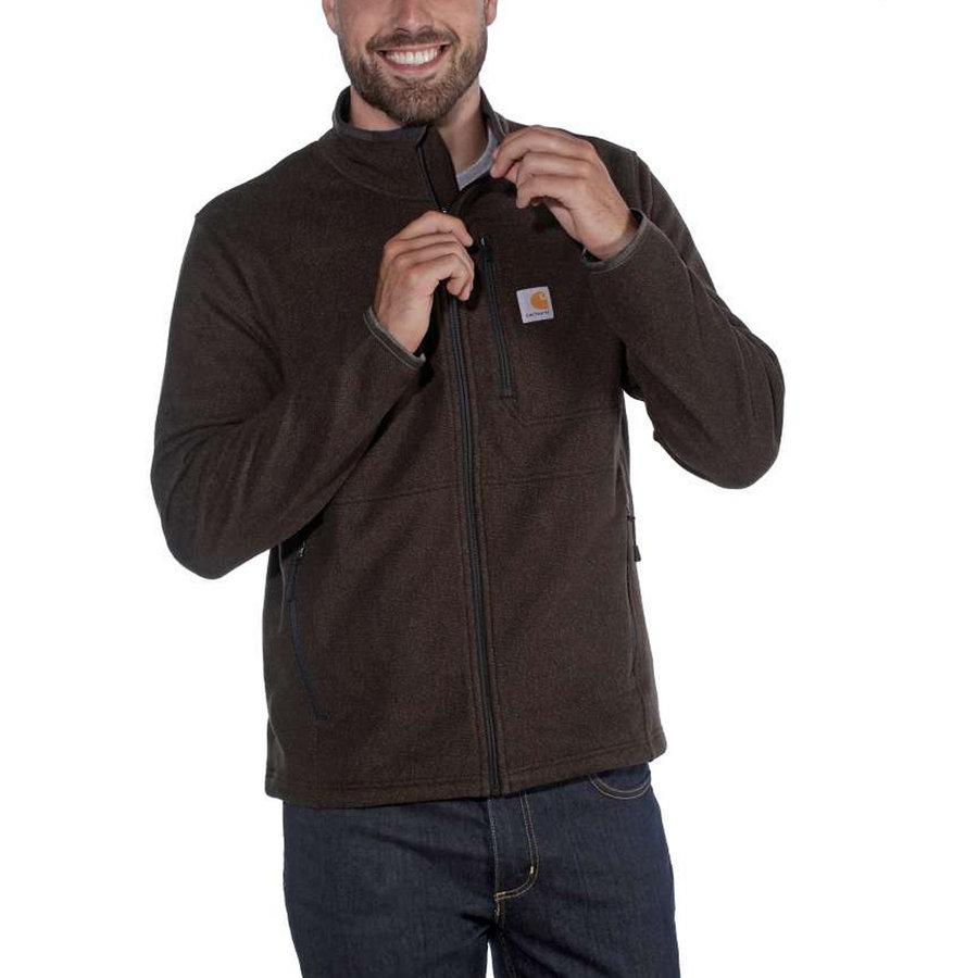 Dalton Full Zip Tarmac Heather Fleece Vest Heren